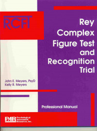 RCFT Rey Complex Figure Test and Recognition Trial (Engelstalig)